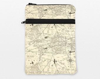 "iPad Pro 12.9"" Case, Kindle Fire HDX 8.9 Sleeve, Galaxy Tab A 9.7 cover, Lenovo Yoga Tab Padded Case, LG G Pad - vintage world map planes"