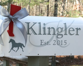 Horse Mailbox - Standard USPS size - Wedding Card Box - Residential Mailbox - Personalized