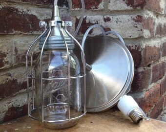 Mason jar light, with can light adapter