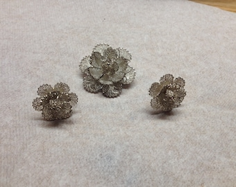 Vintage 925 Sterling Silver Pin and Screw On Earrings
