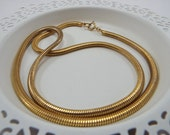 Nice Quality Unsigned Vintage Gold Snake Chain 24 Inch