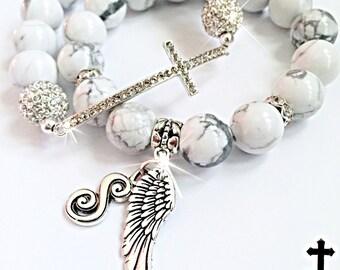 Initial bracelet, cross bracelet