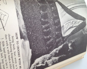CROCHET Book KNITTING Book For Every Woman 344 Pages Copyright 1947 Sewing Tatting Hardcover Book