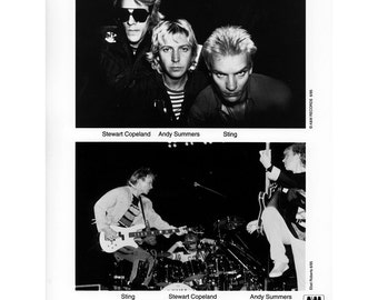The Police Publicity Photo 8 by 10 Inches
