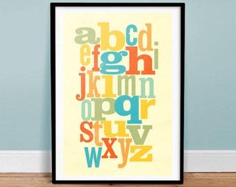 Random Type Alphabet Letters - Vintage Poster - Retro Art Print