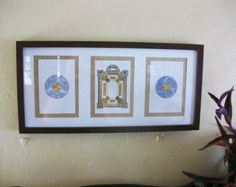 Blank Page Celtic Triptych Original