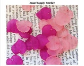 20pcs-12mm magenta, hot pink and light pink frosted translucent acrylic leaf, earrings, pendants
