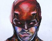 "Discount Flawed ""Daredevil"" Print 5X7"