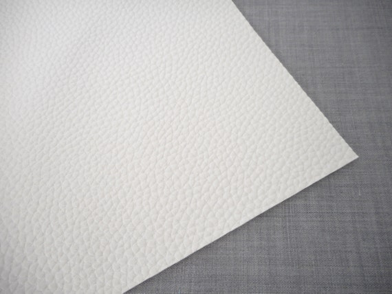 8x11 white textured faux leather fabric sheet by blessed2create