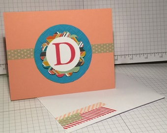 Monogram Note Cards - Set of 8 - Personalized