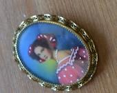 Nice vintage victorian style gold filled filigree italian portrait brooch and pendant / portrait miniature / OBNCVJ