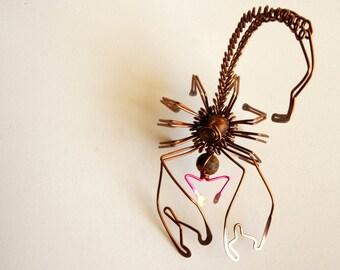scorpion wire sculpture · standing sculpture · scorpion art · decorative scorpion · scorpion decorative art ·  wire art · wire arachnida ·