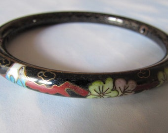 Antique Cloisonne Bangle Bracelet Enamel/Asian/Chinese/High Fashion/Antique
