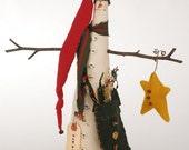 Christmas in July SALE Mr. Hiram, Snowman, Tall Skinny Snowman