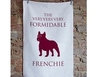 Frenchie Tea Towel, French Bulldog Gift, French Bull dog Present. French Bulldog Design, frenchie present, frenchie gift, frenchbulldog.