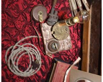 Industrial steam-punk  Candelabra lamp