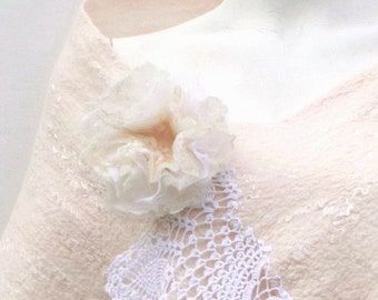 Blush Wedding Shawl Wool Lace