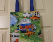 RV - Camper - Campground -Tote Bag, Quilted Tote Bag, Poolside Tote, Utility Bag with RV's, Campers, Camp Site with Lining