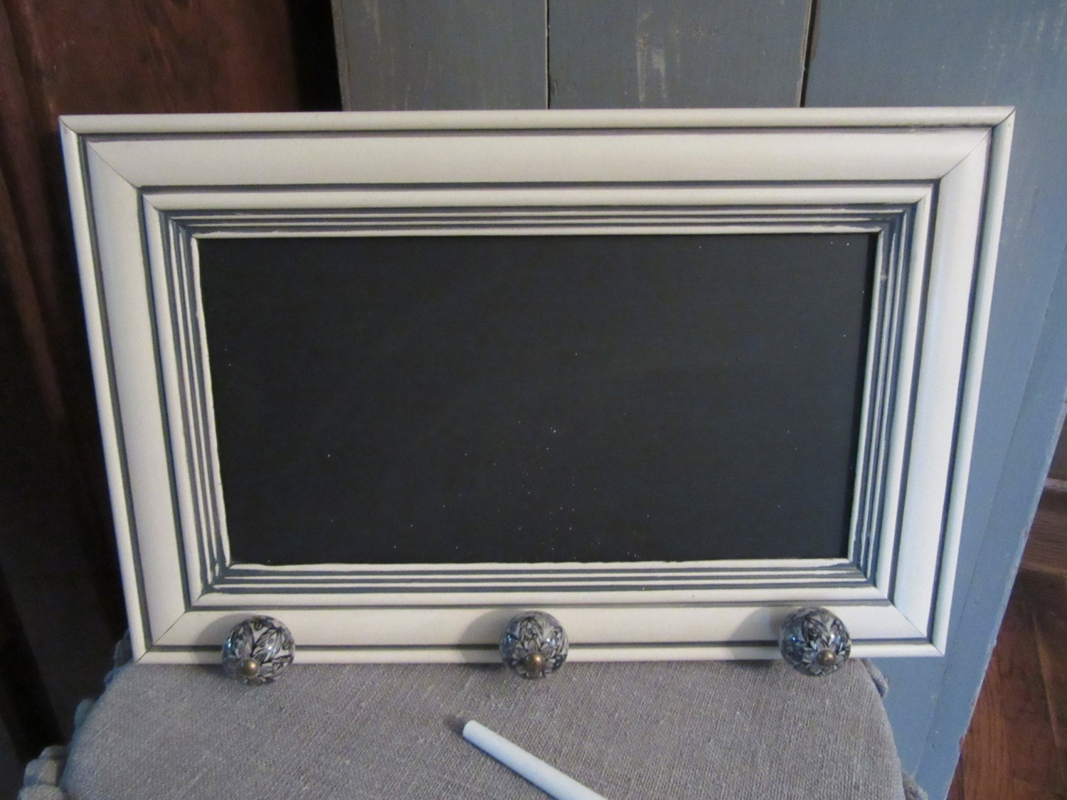 Rescued Cabinet Door Upcycled Into A Chalkboard With Ceramic
