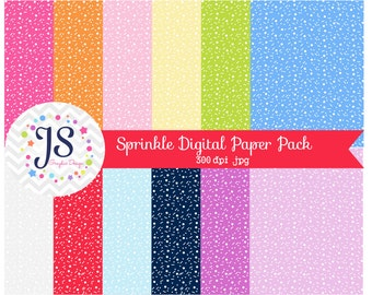 INSTANT DOWNLOAD, sprinkle digital paper for personal and commercial use