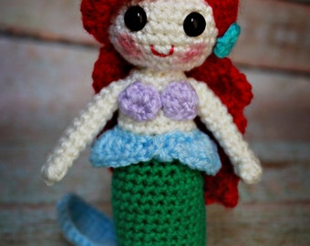 Made to order Crochet Ariel inspired doll