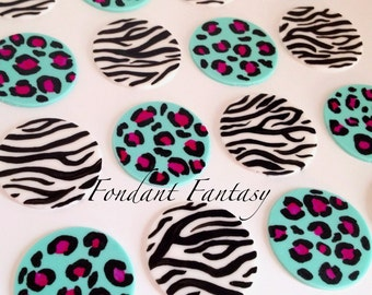 Leopard and Zebra Cupcake Toppers