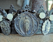 Religious Medal Assemblage Necklace
