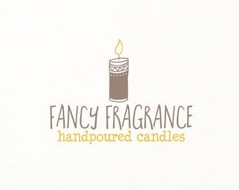 candle logo premade hand drawn logo design - Logo Design #120