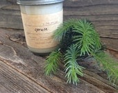 Spruce Scented Soy Candle Pine Premium Soy Container Candle 8oz Mason Jar Candle