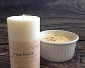 Rich Creme Brulee Soy Pillar Candle Small Soy Pillar Candle White Soy Pillar Candle