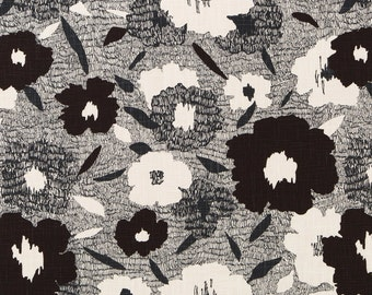 Black White Upholstery Fabric Modern Floral Pillow Covers Black White Home Decor Abstract