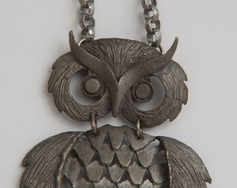 Vintage 60's Owl Necklace