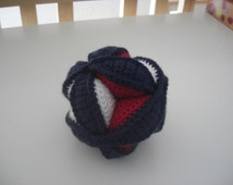 Crochet Amish Puzzle Ball, Baby Plush Puzzle Ball, Clutch Ball, Crochet Puzzle