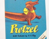 "1972 Classic Book ""Pretzel"" By Margret Rey and the Creators Of Curious George Excellent Condition"