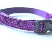 Dog Collar Sparkle Purple Adjustable Sizes (XS, S, M,L, XL)