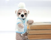 Tosha - Artist Teddy Bear / Hand Crochet and Felted Bear / OOAK