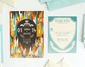 Confetti Castles Wedding Stationery — Save the Date, Invitation, RSVP, Information Card, Program, Menu, Place Card, Table Number, Thank You