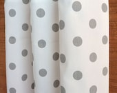 WINTER SALE ⋘ One Pair Window Treatments Curtains Drapery Panels 24W or 50W x 63, 84, 90, 96 or 108L Polka Dot White Storm Grey shown
