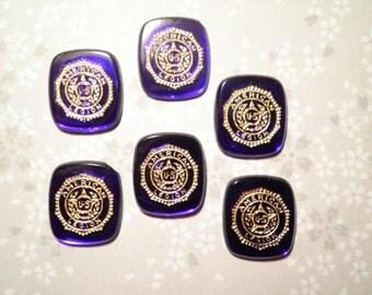 6 American Legion 14x16mm Glass Stones