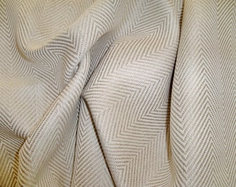 Classic LEE JOFA Kravet HERRINGBONE Linen Fabric 10 Yards Natural
