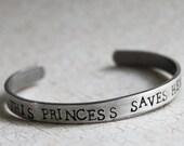 This Princess Saves Herself Bracelet, Girl Power Video Gamer Girl Jewelry  Feminist Misandry Feminism Nerd Girl