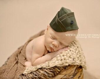 Infant Marine Garrison Cap, Marine Flight Cap, Infant Flight Cap, Garrison Cap, Military Baby