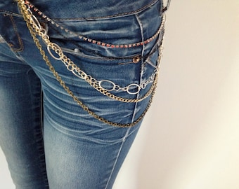 body chain /// hip belt /// upcycled