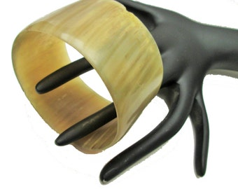 Chunky Carved Horn Bangle