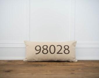 Zipcode Pillow Cover