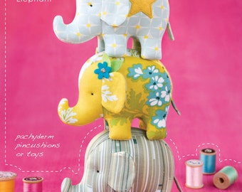 PATTERN: Effie & Ollie Elephant - Pin Cushion Pattern by Heather Bailey