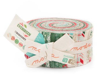 EVERGREEN - Jelly Roll - by Basic Grey for Moda