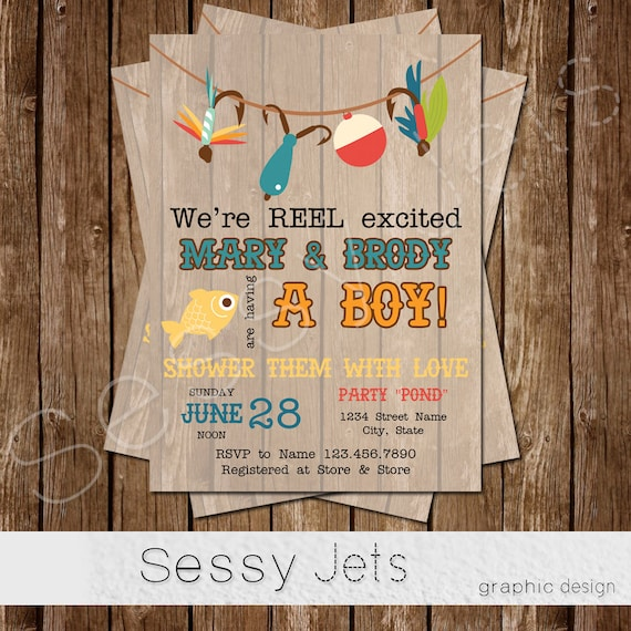 baby shower invitation fishing baby shower invite fish outdoor