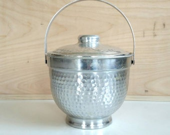 Vintage Nasco Hammered Aluminum Ice Bucket