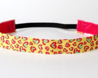 "Neon Love NonSlip Headband 1"""